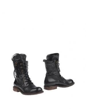 Полусапоги и высокие ботинки AIR STEP. Цвет: черный