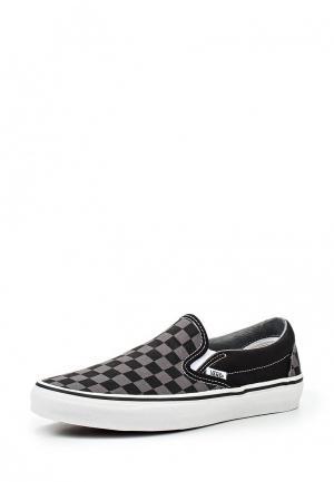 Слипоны Vans U CLASSIC SLIP-ON Black/Pewter Ch. Цвет: черный