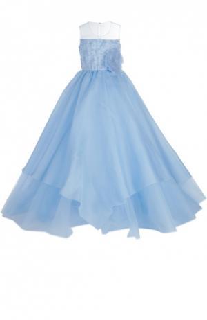 Платье Dennis Basso. Цвет: голубой