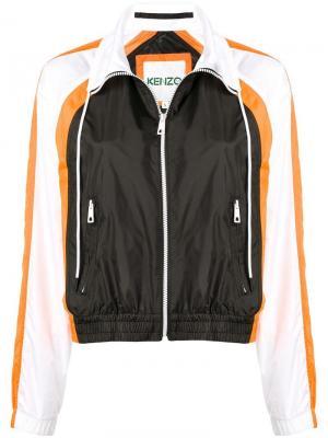 Спортивная куртка с контрастными рукавами Kenzo. Цвет: черный