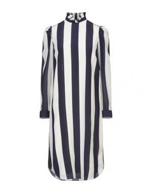 Платье до колена BAND OF OUTSIDERS. Цвет: темно-синий