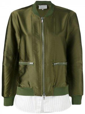 Tromp Loeil Bomber Jacket 3.1 Phillip Lim. Цвет: зеленый