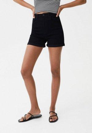 Шорты джинсовые Pull&Bear. Цвет: черный