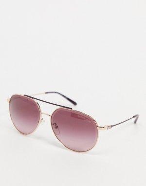 Солнцезащитные очки-авиаторы с красными стеклами -Серебристый Michael Kors