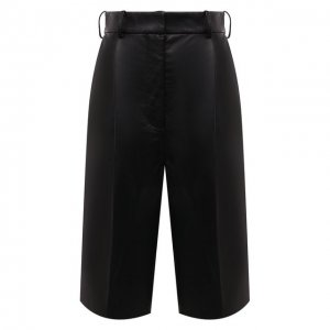 Кожаные шорты Acne Studios. Цвет: чёрный