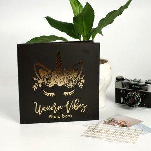 Фотокнига с черными листами unicorn, 23 х см ArtFox
