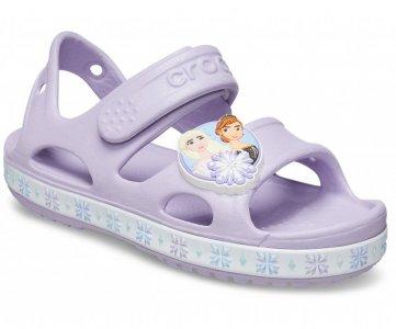Сандалии для девочек CROCS Kids Fun Lab Disney Frozen II Sandal Lavender арт. 206792. Цвет: lavender
