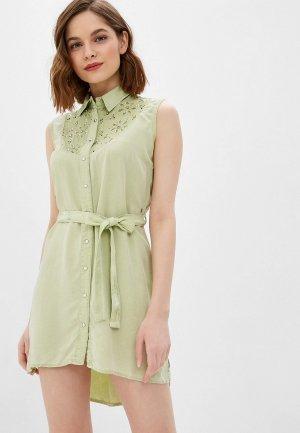 Платье DSHE. Цвет: зеленый