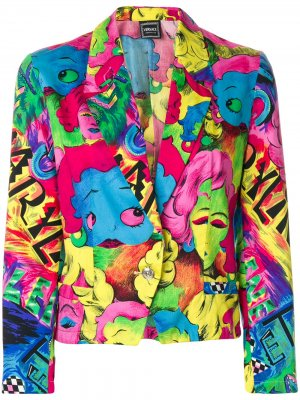 Блейзер Pop Face Versace Pre-Owned. Цвет: разноцветный