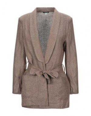 Пиджак PLEASE. Цвет: коричневый