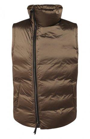 Пуховый жилет Giorgio Armani. Цвет: коричневый
