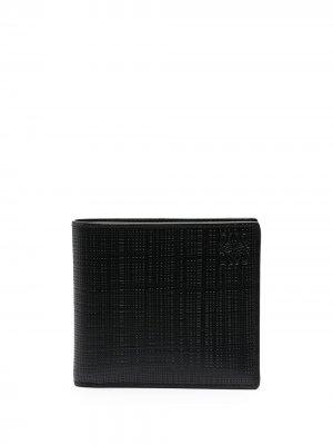 Бумажник с тиснением Anagram LOEWE. Цвет: черный