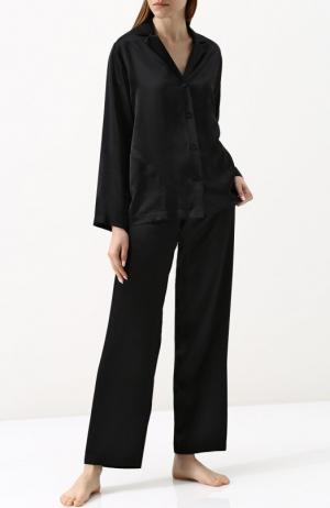 Шелковая пижама La Perla. Цвет: чёрный