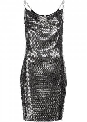 Платье коктейльное bonprix. Цвет: черный