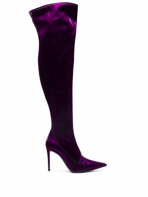 Ботфорты на каблуке Giuseppe Zanotti. Цвет: фиолетовый