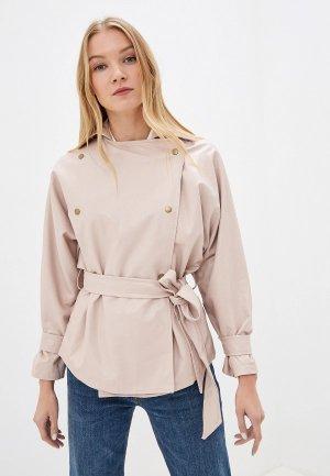 Куртка кожаная Vittoria Vicci. Цвет: розовый