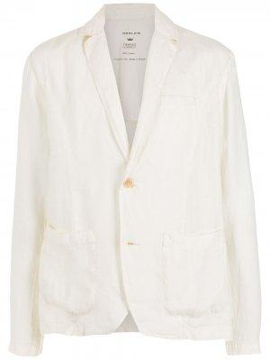 Льняной пиджак Osklen. Цвет: белый