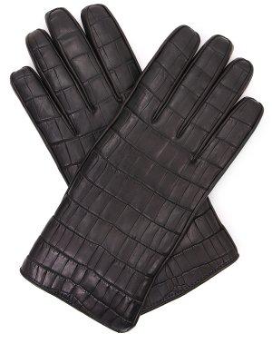 Перчатки из кожи крокодила MAZZOLENI