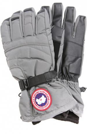 Пуховые перчатки Down Glov Canada Goose. Цвет: серый