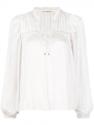 Плиссированная блузка Emilda Ulla Johnson. Цвет: белый