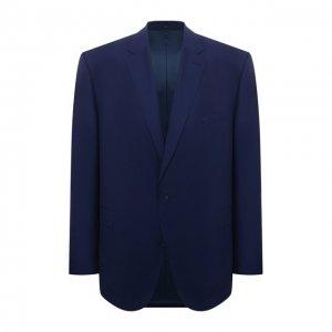 Шерстяной пиджак Eduard Dressler. Цвет: синий