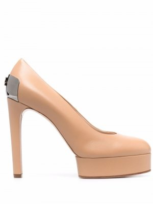 Туфли на платформе Casadei. Цвет: нейтральные цвета