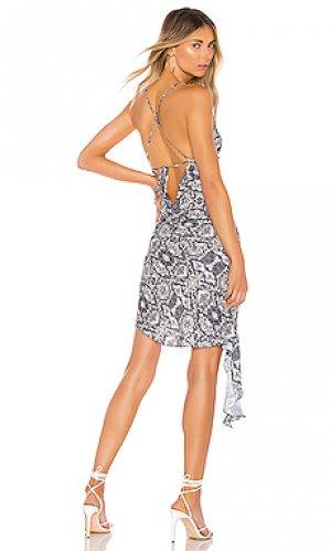 Платье solange Amanda Uprichard. Цвет: серый