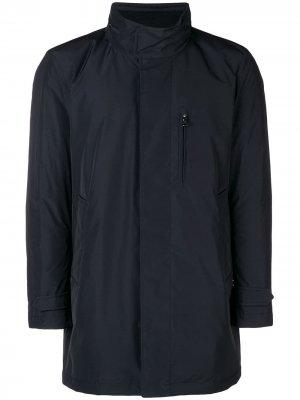 Пальто на молнии Moncler. Цвет: синий