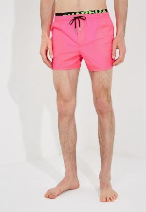 Шорты для плавания Dsquared Underwear. Цвет: розовый