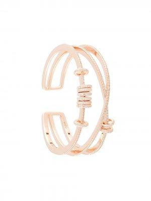 Незамкнутый браслет-кафф Apm Monaco. Цвет: розовый