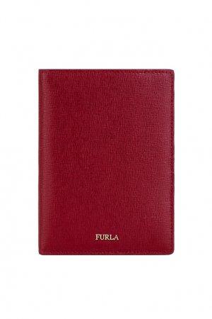 Красная обложка для паспорта Linda FURLA. Цвет: красный