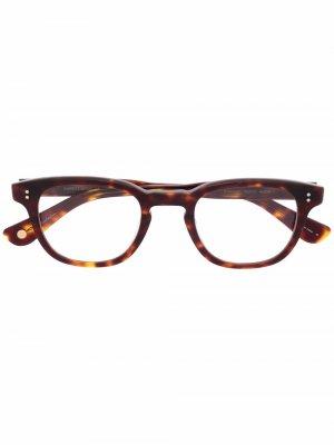 Очки черепаховой расцветки Garrett Leight. Цвет: коричневый