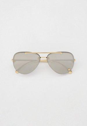 Очки солнцезащитные Versace VE2231 12526G. Цвет: золотой