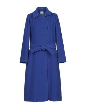 Пальто MANUELA CONTI. Цвет: ярко-синий