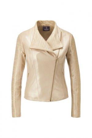 Куртка кожаная Madeleine. Цвет: goldfarben