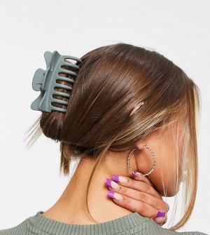 Эксклюзивная матовая зеленая заколка для волос -Зеленый цвет DesignB London