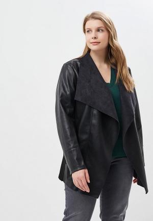 Куртка кожаная Rosa Thea. Цвет: черный