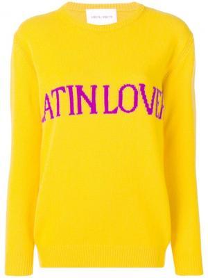 Свитер Latin Lover Alberta Ferretti. Цвет: желтый