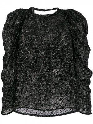 Блузка с длинными рукавами и вышивкой Ba&Sh. Цвет: черный