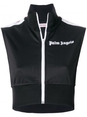 Спортивный топ Palm Angels. Цвет: черный