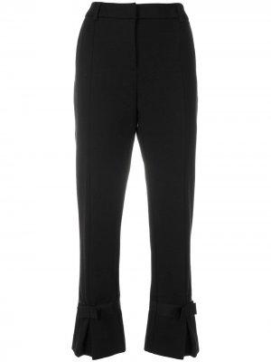 Укороченные брюки с бантами Cavalli Class. Цвет: черный