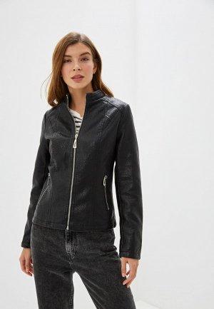 Куртка кожаная Elardis. Цвет: черный