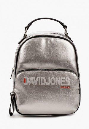 Рюкзак David Jones. Цвет: серебряный