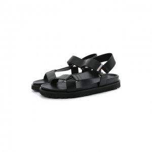 Кожаные сандалии Thomas Dsquared2. Цвет: чёрный