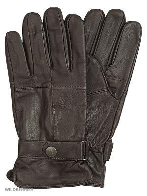 Перчатки Trussardi. Цвет: коричневый