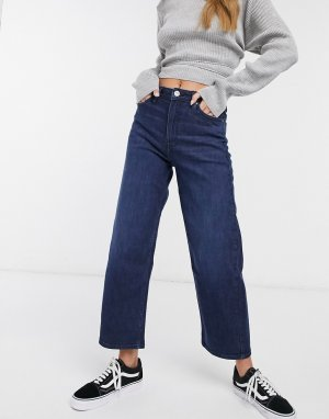 Укороченные джинсы с широкими штанинами LEE-Синий Lee Jeans