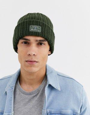 Зеленая шапка-бини -Зеленый Ben Sherman