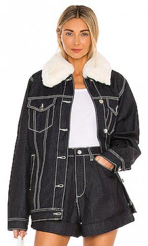 Джинсовая куртка faux WeWoreWhat. Цвет: синий