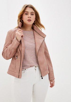 Куртка кожаная Desigual. Цвет: розовый
