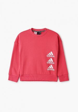 Свитшот adidas. Цвет: розовый